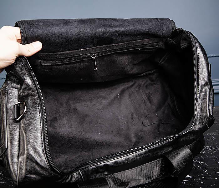 BAG554 Кожаный рюкзак трансформер черного цвета фото 14