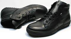 Мужские зимние ботинки на меху Ikoc 1608-1 Sport Black.