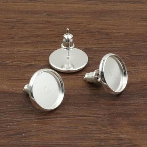 Пуссета с круглой платформой 1 пара цвет серебро