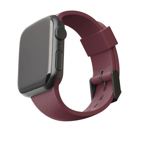 Ремень силиконовый [U] DOT textured Silicone для Apple Watch 44/42, баклажан (Aubergine)