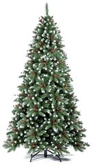Ель Royal Christmas Seattle Premium 150 см с шишками и ягодами заснеженная