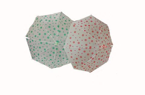 Зонтик в горошек, 54 см., 546-18