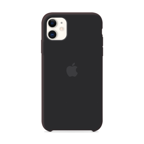Чехол iPhone 11 Silicone Case /black/ черный 1:1