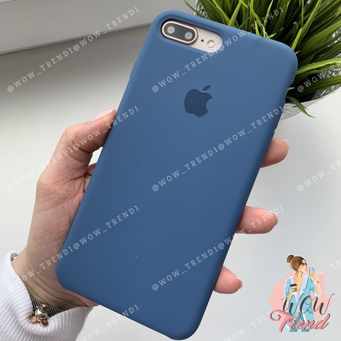 Чехол iPhone 7+/8+ Silicone Case /ocean blue/ синий original quality