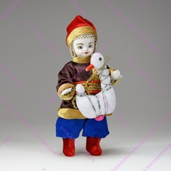 Мальчик с игрушкой - интерьерная кукла
