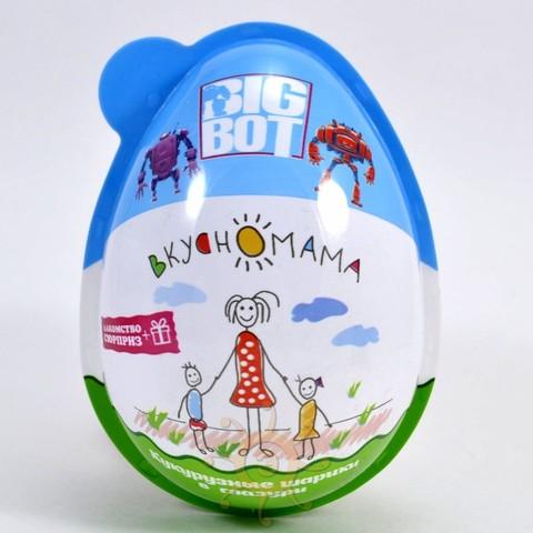 """Кукурузные шарики в глазури Яйцо """"Big Bot"""" Вкусномама, 15г"""