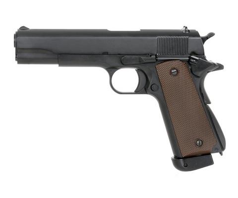 Страйкбольный пистолет Colt 1911, грин-газ, чёрный (KJW)