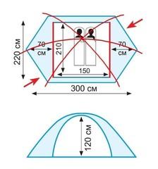 Палатка Tramp Rock 2 (V2), серый - 2