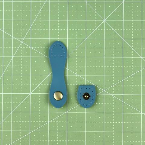 Ремешок для кошелька на кнопке 9 см. (Голубой)