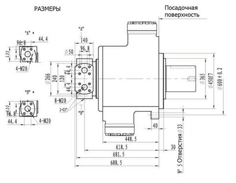 Гидромотор IPM11-12000