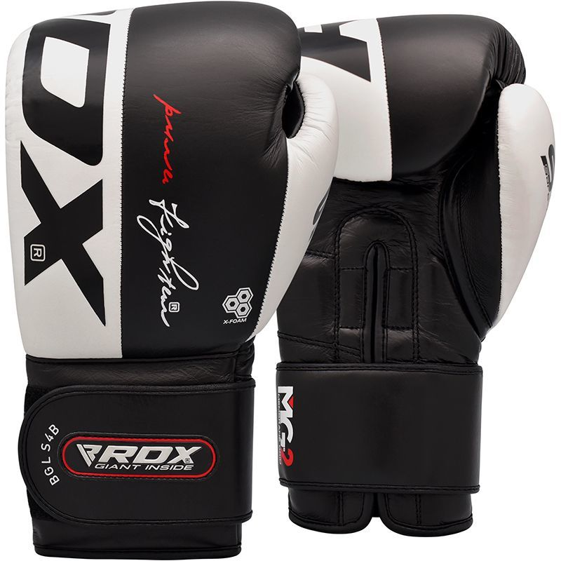Перчатки Перчатки для бокса RDX Boxing Glove S4 Black/White 1.jpg