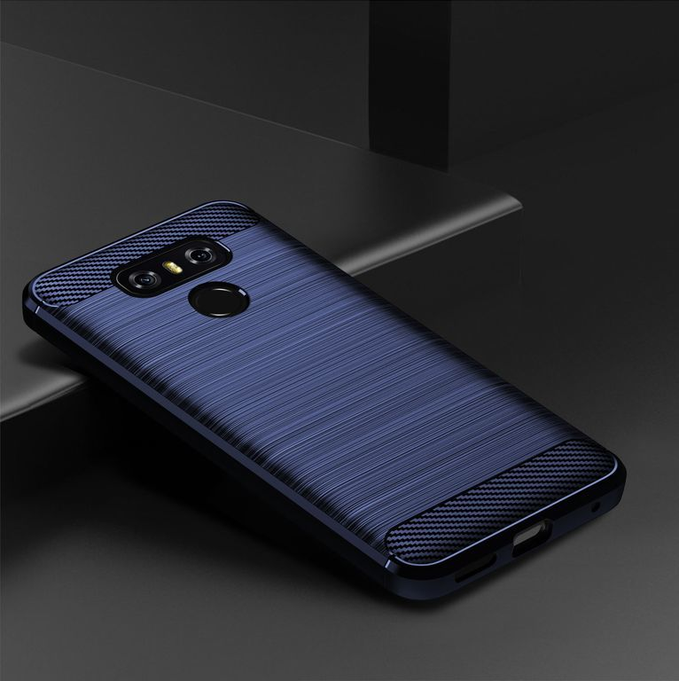 Чехол LG G6 (G6+) цвет Blue (синий), серия Carbon, Caseport