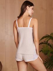 Vivamama. Пижама для кормящих Olivia, бежевый меланж вид 4