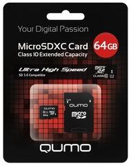 Карта Micro SD QUMO 64Gb
