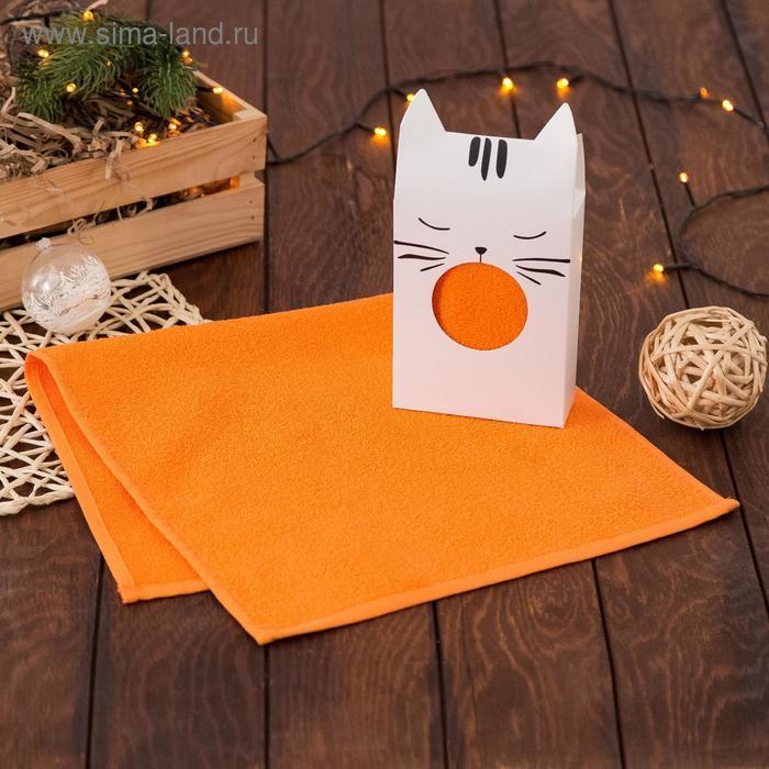 Полотенце подарочное Котик 30*60