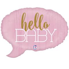 Б Фигура, Hello Baby (Привет малышка), Спич Бабл Розовый, 24