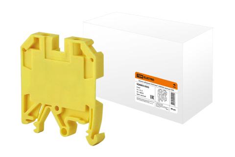 Зажим наборный ЗНИ-6мм2 (JXB50А) желтый TDM