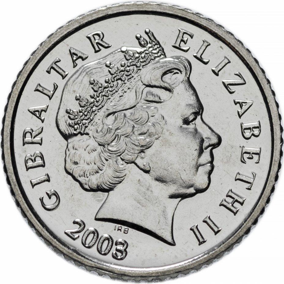 5 пенсов. Гибралтар. 2003 год. UNC
