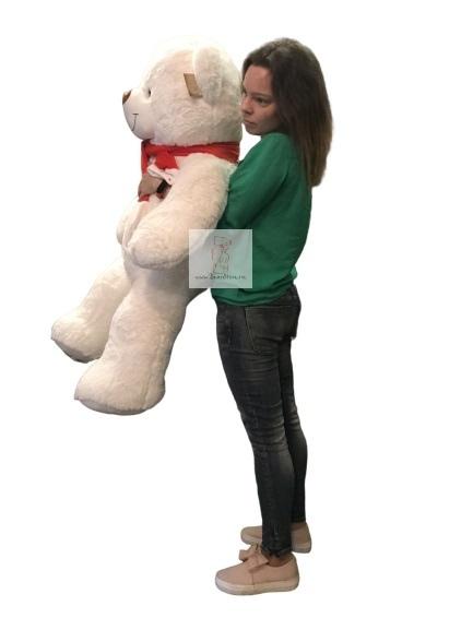 Плюшевый мишка Данила 110 см белый