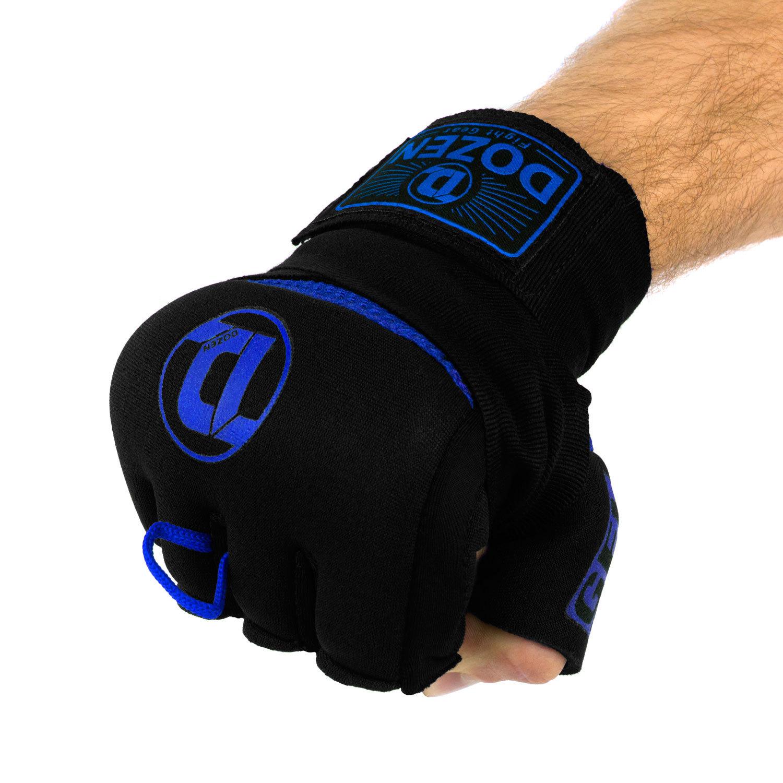 Быстрые бинты черно-синие Dozen Pro Gel-Air Inner сжатый кулак