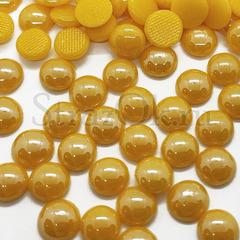Купить оптом термоклеевой керамический полужемчуг желтый Topaz