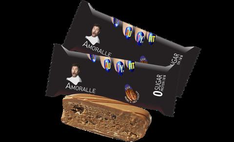 Amoralle Протеиновый шоколад luxury, Грецкий орех + Молочный шоколад, без сахара