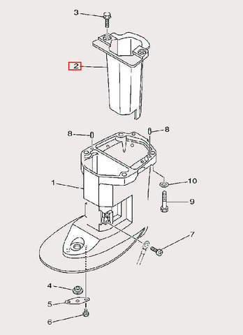 Коллектор выпуска для лодочного мотора F9,9 Sea-PRO (23-2)