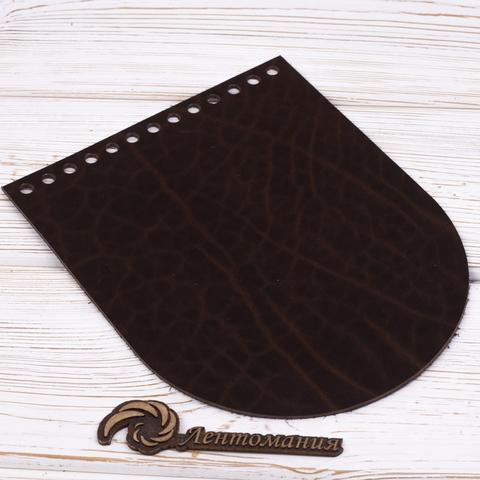 """Клапан для сумочки кожаный """"Венге"""" 19,5 см на 15,5 см"""