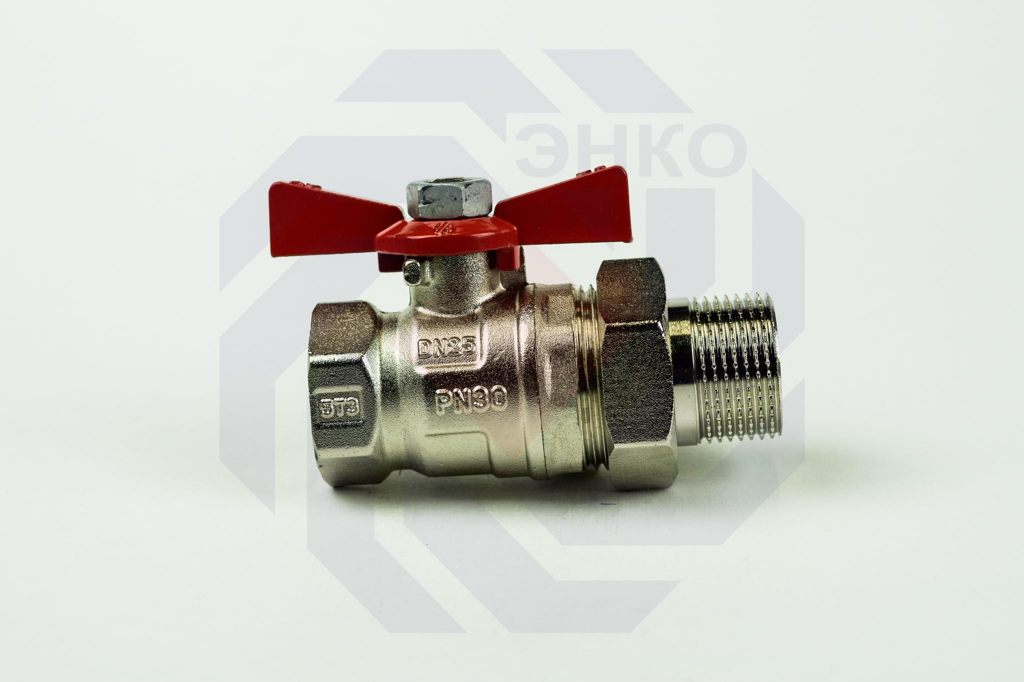 Кран шаровой с разборным присоединением с ВР/НР резьбой ARCO SENA 1