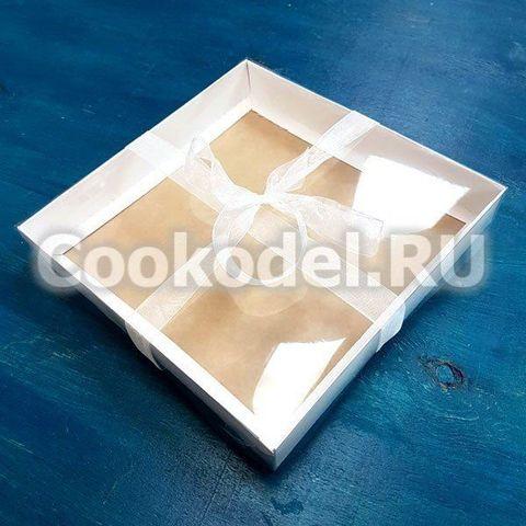 Коробка Классика двусторонняя 12х12х3 см