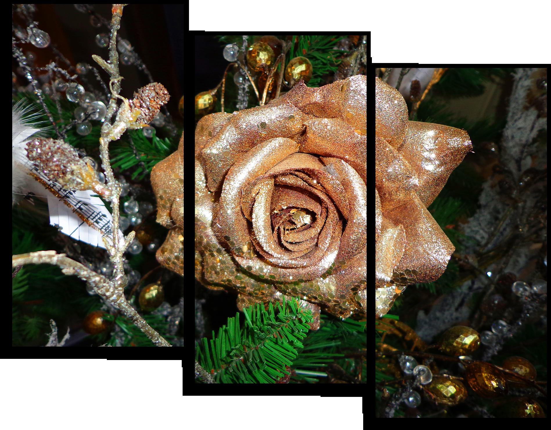 "Цветы Модульная картина ""Золотая роза "" М675.png"