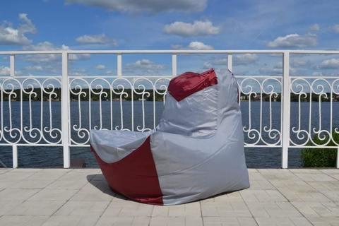 Кресло-мешок «Классическое» Серо-бордовый