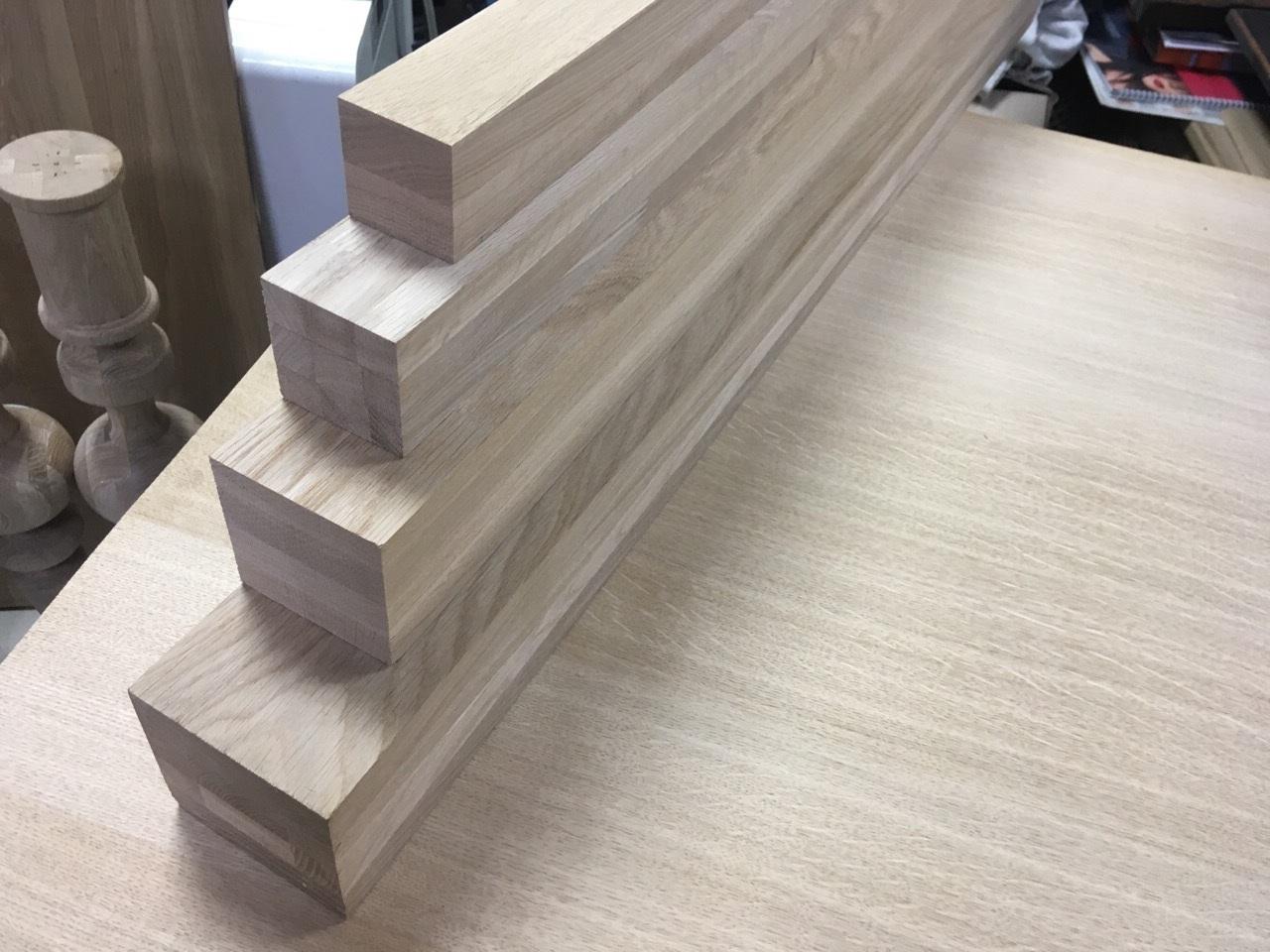 Мебельный брус - дуб цельноламельный 50 мм х 50 мм х 900 мм