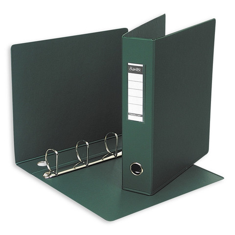 Папка на 4-х кольцах Bantex 60 мм зеленая до 350 листов