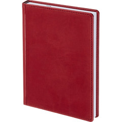 Ежедневник недатированный Attache Сиам искусственная кожа А5 176 листов бордовый (143x210 мм)