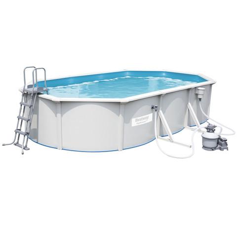 Сборный бассейн Bestway Hydrium 56369 (610х360х120 см) с песочным фильтром, лестницей и тентом / 15833