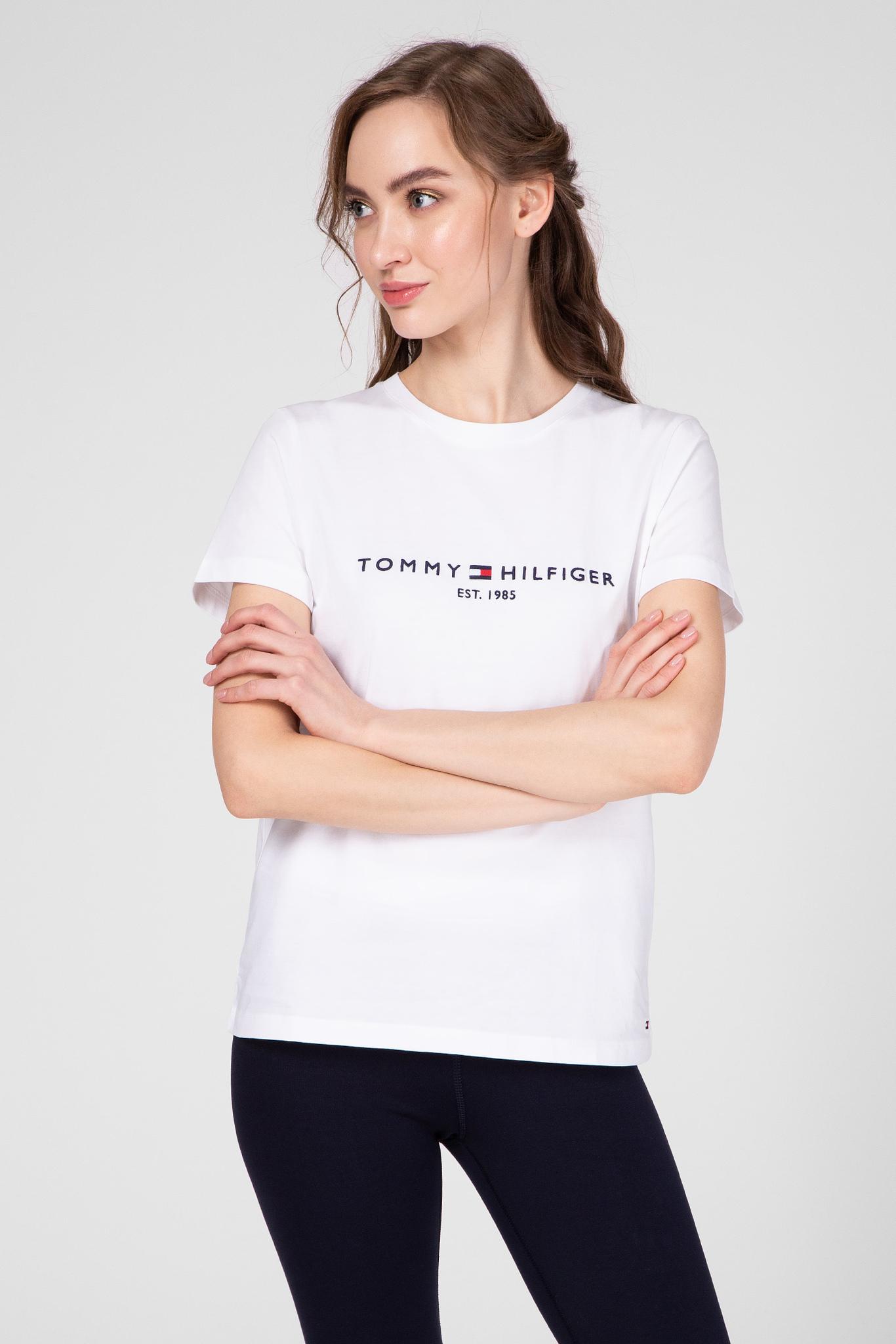 Женская белая футболка NEW TH ESS Tommy Hilfiger