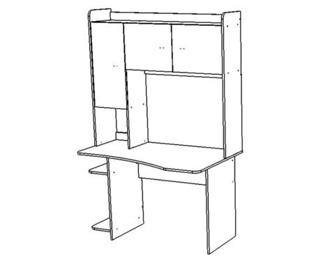 Стол письменный КВИНС-2 левый /1304*1970*805/