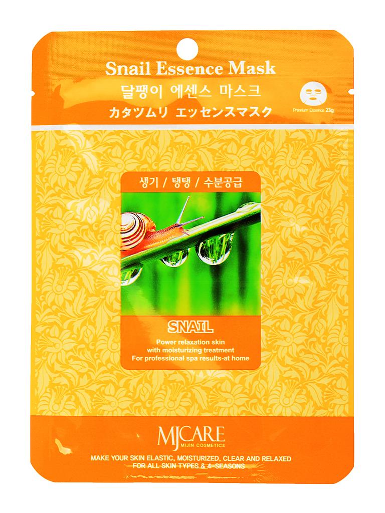 MIJIN Маска тканевая для лица улитка Snail Essence Mask МЖ17.jpg