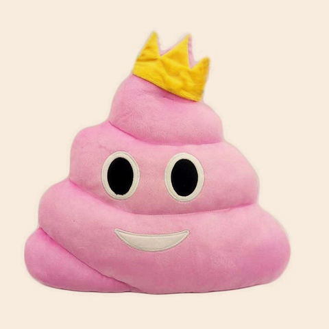 Подушка какашка розовая