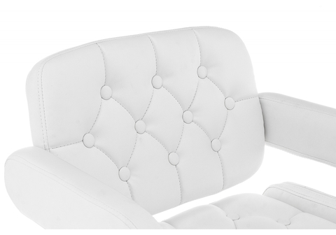 Барный стул Shiny белый 58*58*92 Хромированный металл /Белый