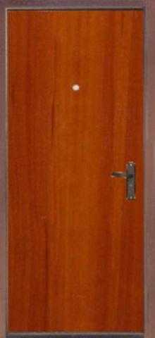 Дверь входная S-0 эконом стальная, яблоня, 1 замок, фабрика Арсенал