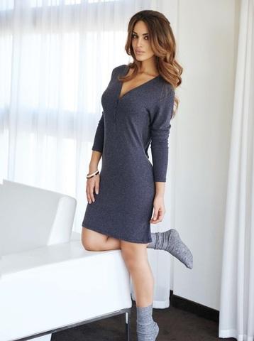 Платье домашнее женское Jadea 5059 синее