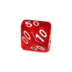 Куб D% прозрачный: Красный