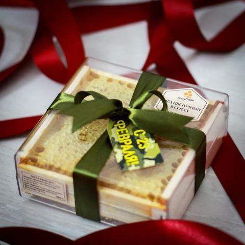 Натуральный мед в сотах HoneyForYou в подарочном оформлении