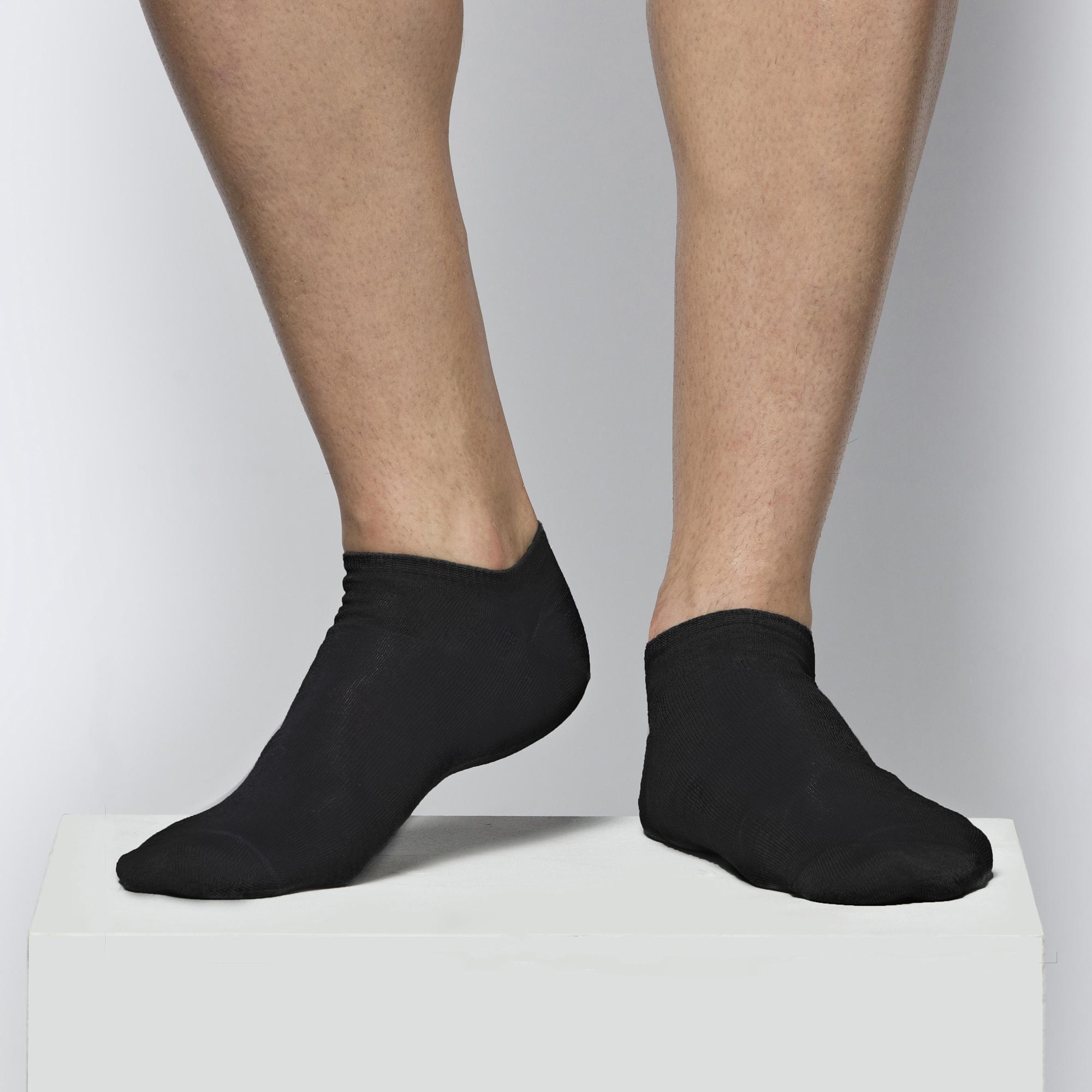 Укороченные носки мужские Atlantic, 1 пара в уп., бамбук, черные, MSB-001