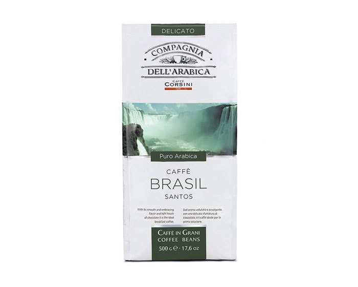 Кофе в зернах Compagnia Dell`Arabica Brasil Santos, 500 г (Компания Дель Арабика)
