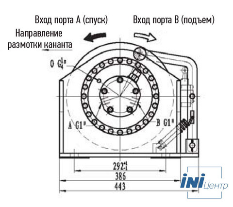 Лебедка свободного сброса IYJ2.5-15-50-12-L-ZPH2