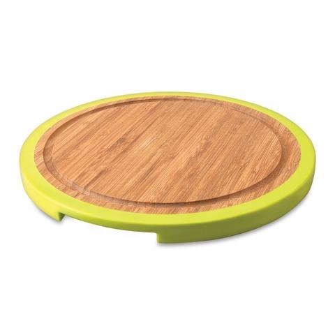 Доска разделочная бамбуковая с силиконовыми накладками 25*25*1,5см (круглая) Studio