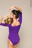 2 Sleeves leotard colour | violet